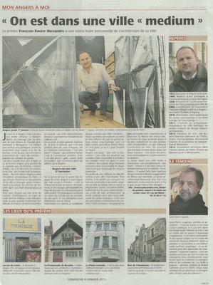 Le Courrier de l'Ouest du 4 janvier 2015