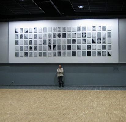 François-Xavier ALEXANDRE, polyptyque de 100 tableaux, centre culturel de Baugé-en-Anjou