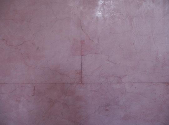 Gespachtelter Marmor, Stucco Lustro, leicht marmoriert und in Quadersteine unterteilt