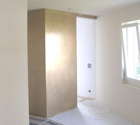 Unsere individuellen Wände in verschieden Goldtönen sind etwas ganz Besonderes!