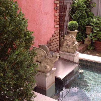 Lasierte Aussenwand in Venezianisch Rot