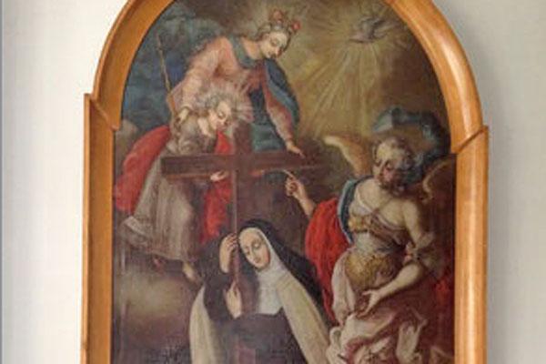 Das fertig restaurierte Ölbild hängt nun im Karmeliterkloster St. Theresa von Avila in München