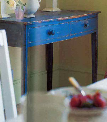Shabbyhome, Tischchen in Kobaltblau