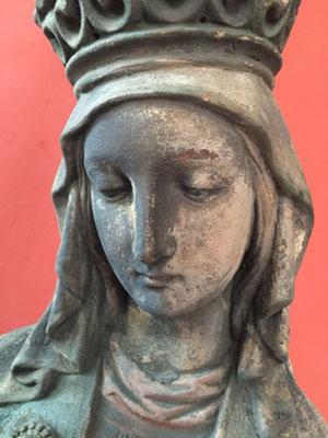 Die wunderschöne Madonna aus Benediktbeuren war so verrust, dass die Farben kaum noch zu erkennen waren