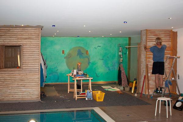 Das Atelier Alina Cesár aus München gestaltet ein Schwimmbad