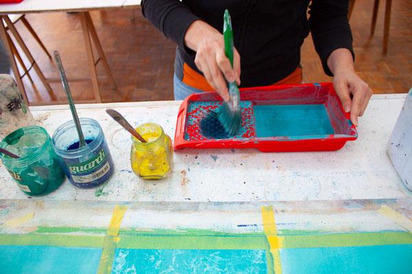 Mit Pigmenten Malen lernen