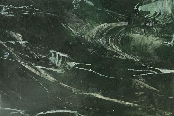 Gemalter Schwarzer Marmor mit Acrylfarbe, die selber aus Pigmenten hergestellt wurde