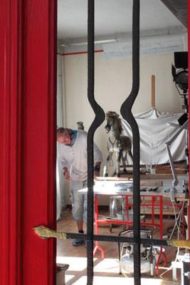 Blick in die Restaurationswerkstatt