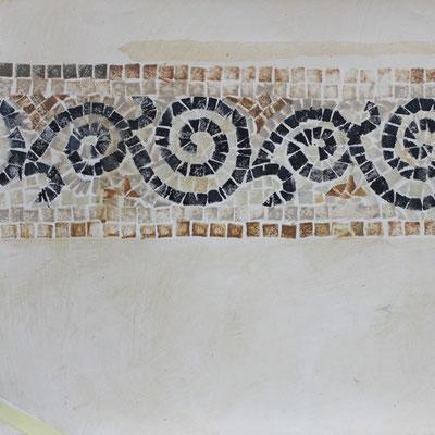 Gemalte Mosaik Bordüre. Die Malerei im Byzantinischem Stil wurde für die Bemalung eines Restaurantes von uns entworfen