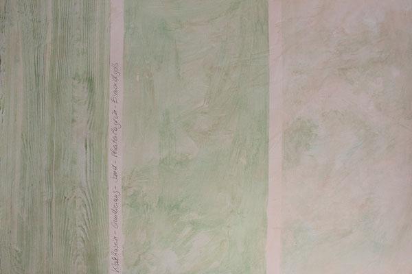 Muster in Kalkkasein in den Techniken: Holzimitation und Wischtechniken (Muster aus Grundkurs 1)