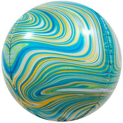 3D сфера диаметр 40 см бирюзовый агат, воздух 240 р., гелий 400 р.