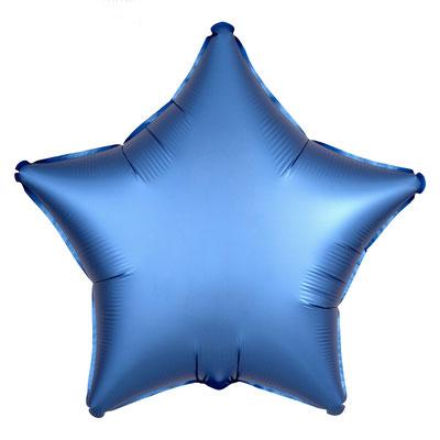 Синяя сатин 45 см 135 р.