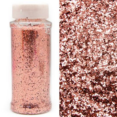 Конфетти мелкое розовое золото для наполнения прозрачных шаров.