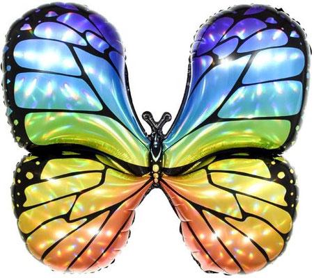 Бабочка голографическая воздух 220 р., гелий 350 р.