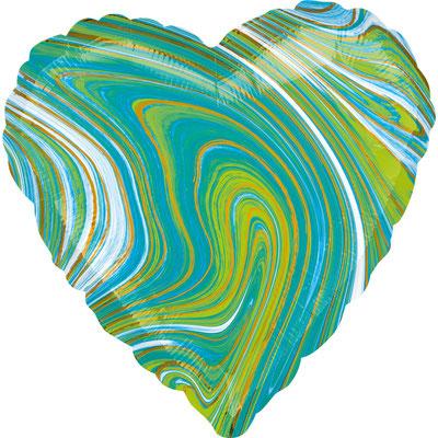 Сердце агат зеленый воздух 90 р., гелий 140 р.