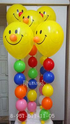 Цепочки из шаров с носиком: 5 шариков - 98 р., 6 шариков - 104 р.. 7 шариков - 110 р., 8 шариков - 116 р.
