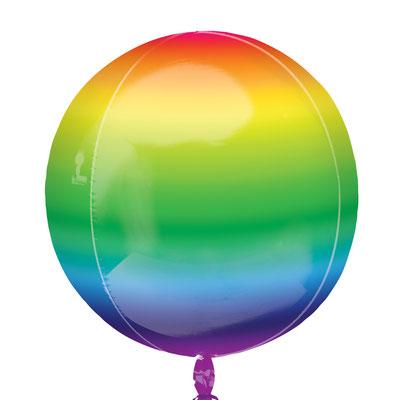 3D сфера диаметр 40 см радуга (градиент) воздух 360 р., гелий 480 р.