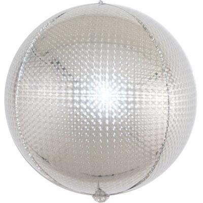 3D сфера  серебро голография диаметр 40 см воздух 160 р., гелий 320 р.