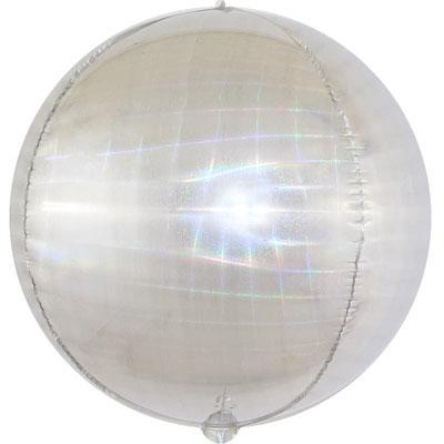 3D сфера серебро искрящаяся иллюзия диаметр 40 см воздух 160 р., гелий 320 р.