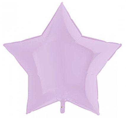 Звезда нежно-сиреневая матовая 45 см 135 р.,  90 см воздух 330 р., гелий 550 р.