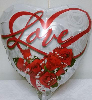 Сердце с надписью 45 см гелий 130 р.