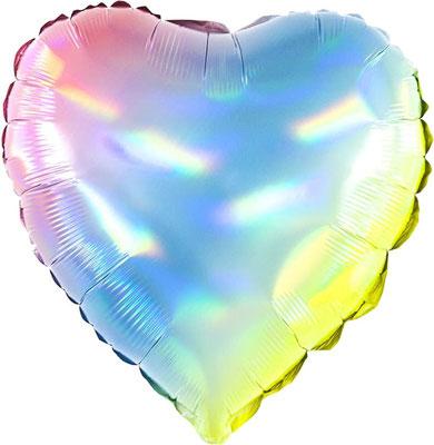 Сердце нежный градиент голография воздух 55 р., гелий 105 р.