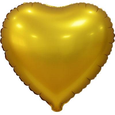 Сердце 45 см сатин золотой 110 р. (пр-ва Китай Falali).