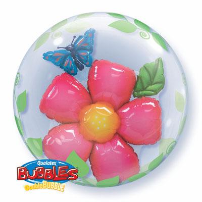 Фольгированный шар-цветок в прозрачном круглом шаре из полимерной пленки с рисунком, идеально круглой формы диаметром 61 см воздух 536 р., гелий 835 р.