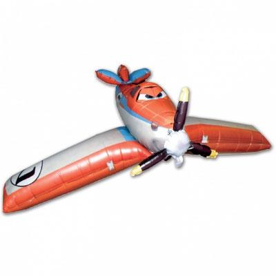 3D фигура Самолет летающий 1500 р. гелий выс. 48 см шир. 166 см