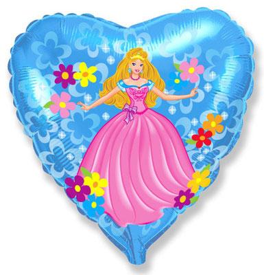 Сердце Принцесса воздух 80 р., гелий 120 р.