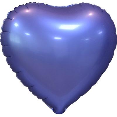 Сердце 45 см сатин фиолетовый 105 р. (пр-ва Китай Falali).