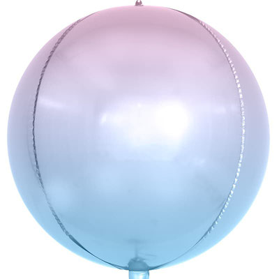 3D сфера диаметр 40 см сиреневый градиент воздух 180 р., гелий 340 р.
