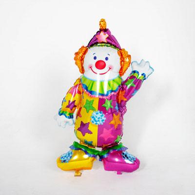 Клоун - ходяшка выс 111 см гелий 1000 р.