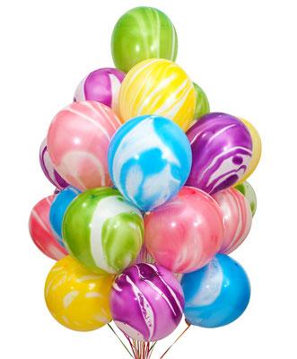 """Шары - агаты это изюминка в композиции из шаров! Пр-во""""Веселый праздник"""" Китай 30 см 61 р."""