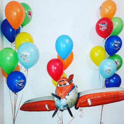 """3D фигура  из мультфильма """"Самолеты"""" гелий 1500 р. шир. 166 см"""