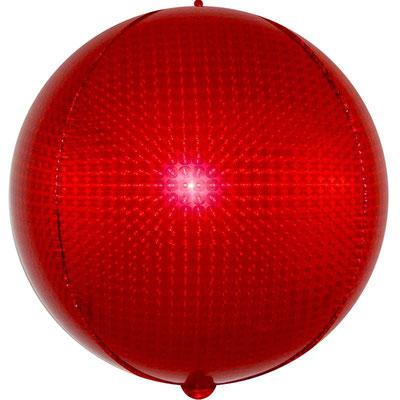 3D сфера красная голография диаметр 40 см воздух 160 р., гелий 320 р.