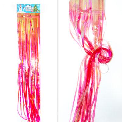 Гирлянда Дождик красный неоновый 0,5 м для украшения большого шара 32 р.