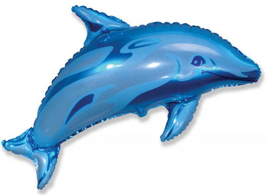 Дельфин голубой  воздух 200 р.. гелий 310 р.