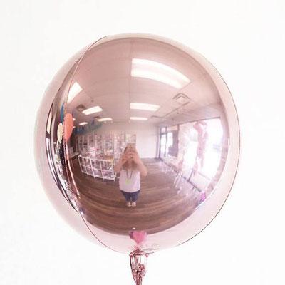 3D сфера розовое золото диаметр 40 см воздух 385 р., гелий 515 р.