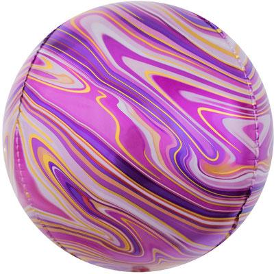 3D сфера диаметр 40 см фуше агат, воздух 240 р., гелий 400 р.