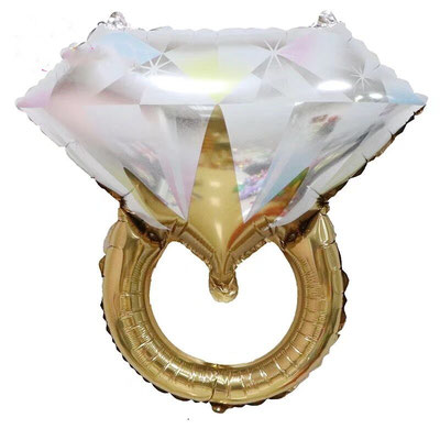 Кольцо с бриллиантом  золото пр-ва Китай  выс 60 см воздух 100 р., гелий 185 р.