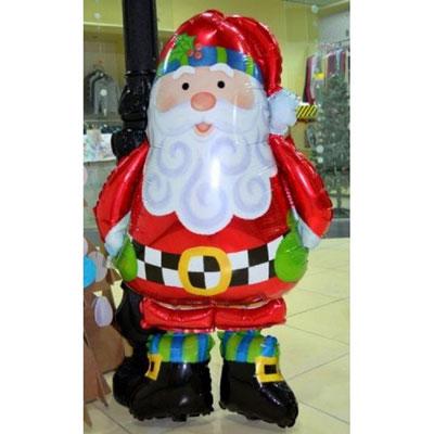 3D фигура Дед Мороз-ходяшка (передвигается от легкого дуновения) выс. 100 см. гелий 1360 р.