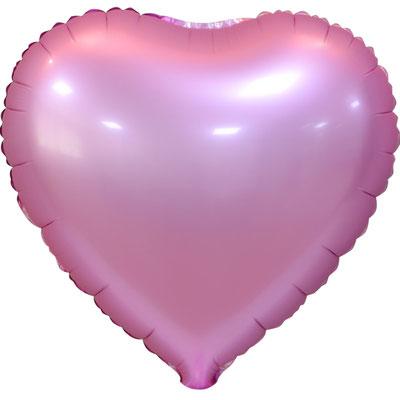 Сердце 45 см сатин розовый 105 р. (пр-ва Китай Falali).