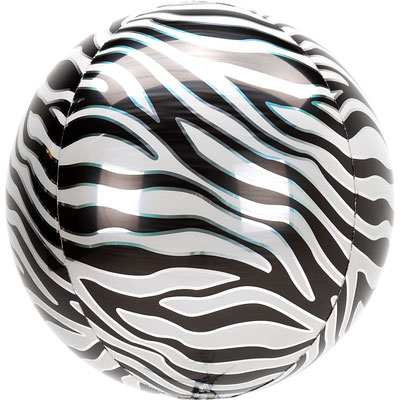 3D Зебра диаметр 40 см воздух 385 р., гелий 515 р.