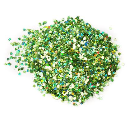 Конфетти мелкое зеленое  для наполнения прозрачных шаров.