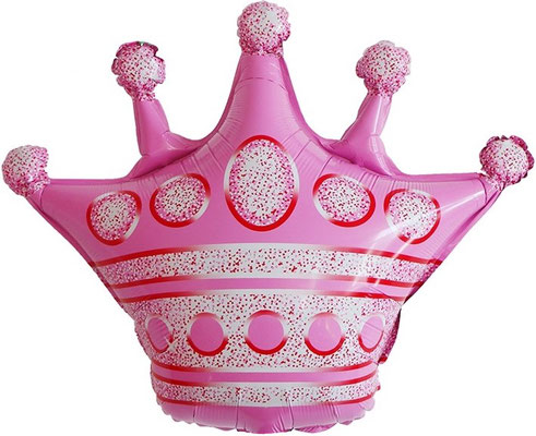 Корона розовая 62 см воздух 90 р., гелий 180 р.