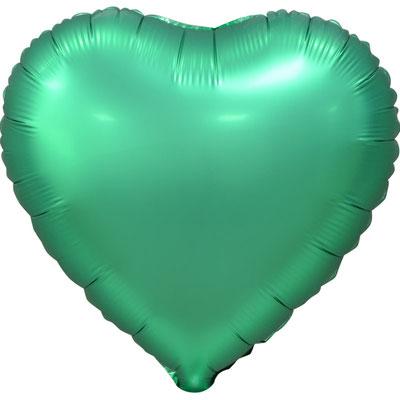 Сердце 45 см сатин зеленый 105 р. (пр-ва Китай Falali).
