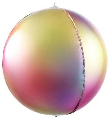 3D сфера диаметр 40 см диско воздух 156 р., гелий 316 р.