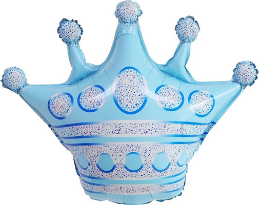 Корона голубая 62 см воздух 90 р., гелий 180 р.