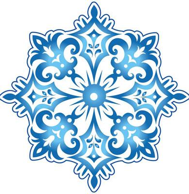 Снежинка 20 см на тонком картоне, двусторонний рисунок, блестки с одной стороны, 1 шт. 20 р. В комплекте клеевые точки.